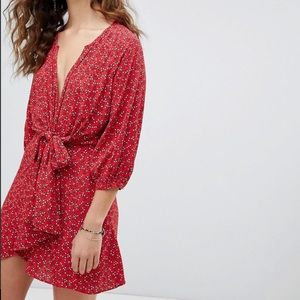 Free People Floral Print Tunic Dress